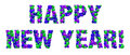 Happy New Year balloon sign Royalty Free Stock Images