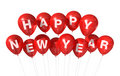 Happy new year balloons Stock Images