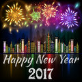 Happy New Year 2017 banner Royalty Free Stock Photo