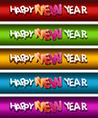 Happy New Year Banner Set. Stock Images