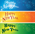 Happy new year banner set Royalty Free Stock Photography