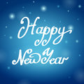 Happy new year blue background illustration Stock Photo