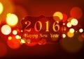Happy New Year 2016 On Bokeh L...