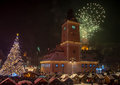 New Year celebration, Piata Sfatului, Brasov Royalty Free Stock Photo