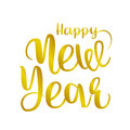 Happy new year brush hand lettering,