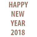 Happy new year bubbles 2018 Royalty Free Stock Photo