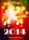 Happy new year card color Stock Photography