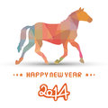 Happy new year card of the horse Royalty Free Stock Photos