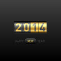 Happy new year card illustration Royalty Free Stock Photography
