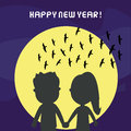 Happy new year card inlove in day Stock Photos