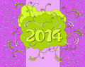 Happy new year card in neon style Stock Images