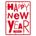 Happy new year card. Typography letters type font kit Stock Image