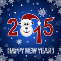 Happy new year card vector illustration background Royalty Free Stock Images