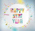 Happy new year celebration background with colorful confetti Royalty Free Stock Photo