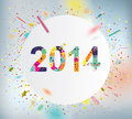 Happy new year celebration background with colorful confetti Stock Photo