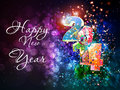 Happy new year celebration background easy editable Royalty Free Stock Photo