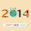 Happy new year celebration background vector can be use for stickers Royalty Free Stock Image