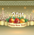 Happy new year 2015 celebration greeting card