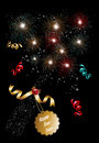 Happy new year 2014 champagne fireworks background Royalty Free Stock Photo