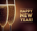 Happy New year champagne Royalty Free Stock Photo