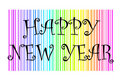 Happy New Year with colorful background