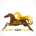 Happy new year colorful box horse concept background Royalty Free Stock Photos