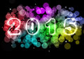 Happy New Year - 2015 colorful premise Royalty Free Stock Photo