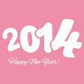 Happy new year colorful vector file with the numbers Royalty Free Stock Images