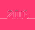 Happy new year 2016. Creative greeting card design. Universal background Royalty Free Stock Photo