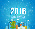 Happy new year 2016 creative greeting card design Royalty Free Stock Photo
