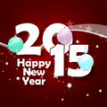 Happy new year creative red design Royalty Free Stock Photos