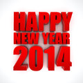 Happy new year d render of the text on white background Stock Photos