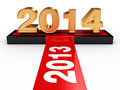 Happy new year d render of to Royalty Free Stock Images