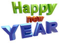 Happy new year d text on great for print presentation or web Stock Image