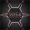Happy new year dark against the background of technological textures Royalty Free Stock Image