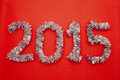 Happy new year design red background Stock Image