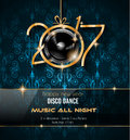 2017 Happy New Year Disco Party Background for your Flyers Royalty Free Stock Photo