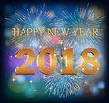 Happy new year 2018 Royalty Free Stock Photo