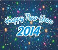 Happy new year 2014 with firework background
