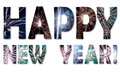 Happy New Year fireworks Royalty Free Stock Image