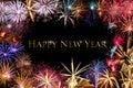 Happy New Year Fireworks Border Royalty Free Stock Photo