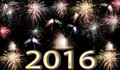 Happy New Year 2016 fireworks Royalty Free Stock Photo