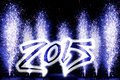 Happy New Year 2015 fireworks Royalty Free Stock Photo