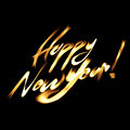 Happy New Year flaming font Royalty Free Stock Photo