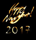 Happy New 2017 Year flaming font Royalty Free Stock Photo