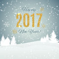 2017 Happy New Year Gold Gloss...