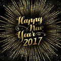 Happy New Year 2017 Gold Holid...