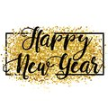 Happy new year. Golden background for flyer, poster, sign,