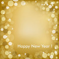 Happy New Year Golden Background. Vector Stock Photos