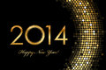 Happy new year golden glowing vector Royalty Free Stock Images